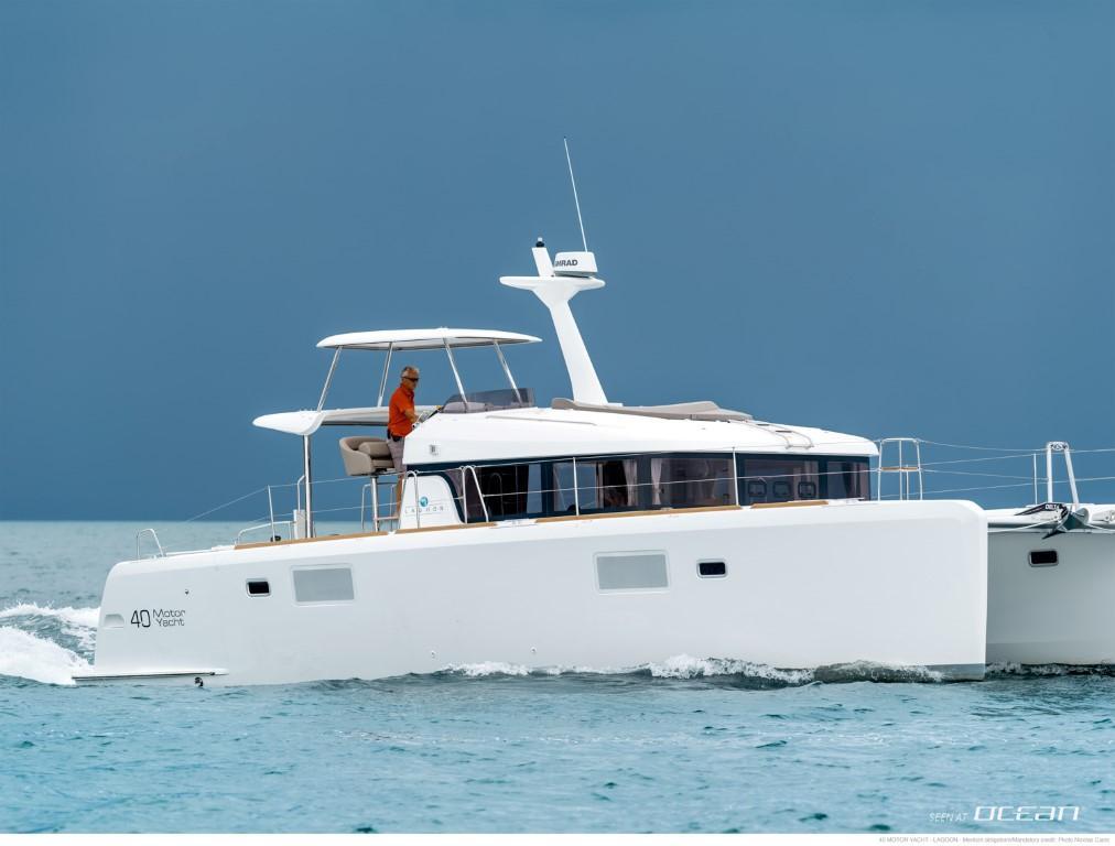 Lagoon 40 motor yacht power catamaran charter croatia for Motor yacht charter croatia