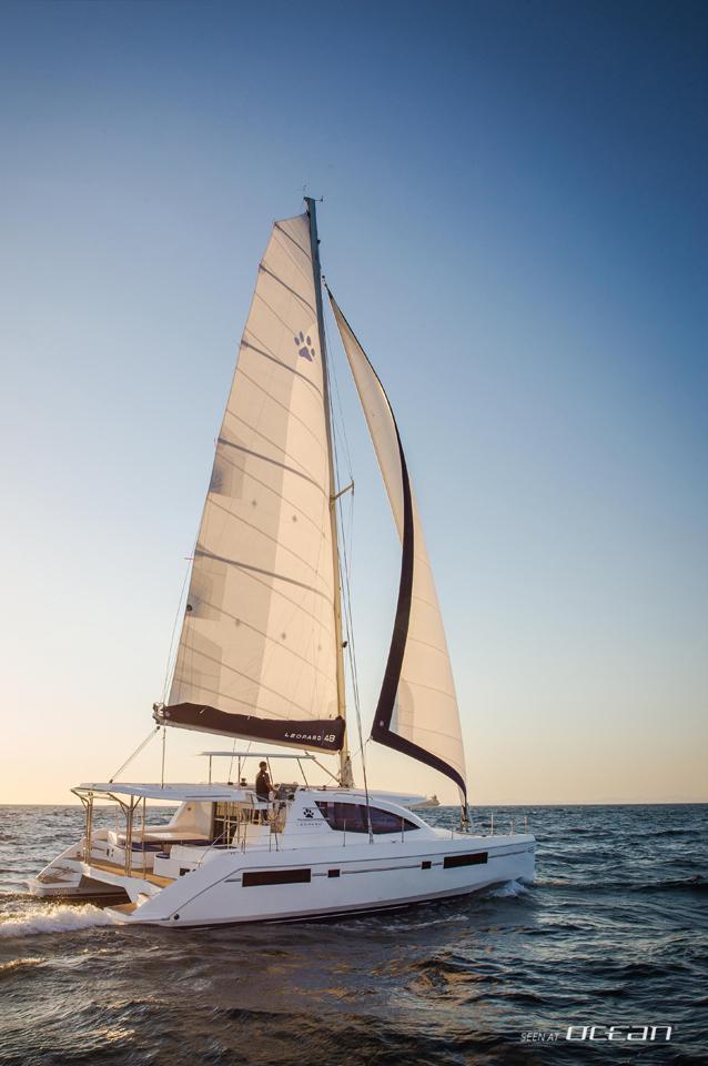 Sailing catamaran char...